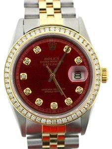 Rolex 36MM ROLEX DATEJUST WITH YELLOW GOLD BEZEL WITH ROLEX BOX & APPRAISAL