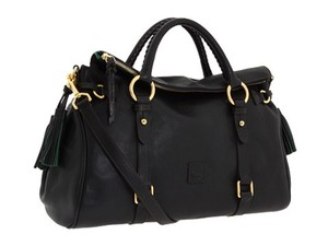 Dooney & Bourke Leather Florentine Med/lg Satchel in Black