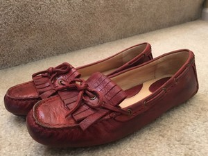 Frye In Box Vintage Leather Burnt Red Flats