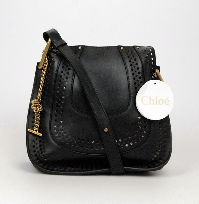 Item - Hayley Perforated M239-13 B386 Black Leather Hobo Bag