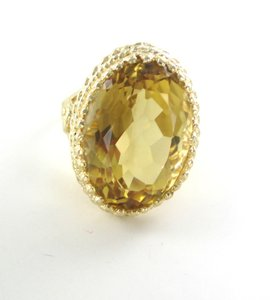 Other 14KT YELLOW GOLD RING CITRINE STONE LARGE 13.2 GRAMS CLUSTER
