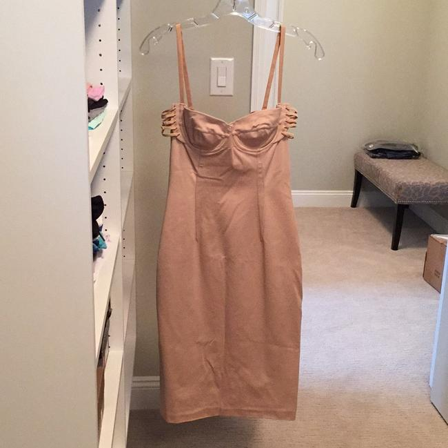 Item - Nude Body-con Short Cocktail Dress Size 4 (S)