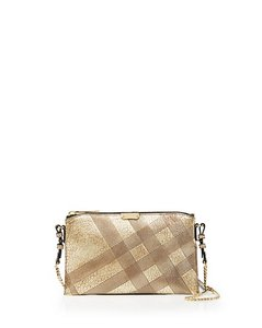 Burberry Clutch Tote House Check Cross Body Bag
