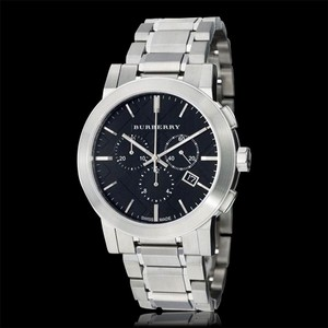 Burberry New Authentic Men's Swiss Chronograph S-Steel Watch 42mm BU9351