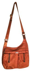 Tumi Leather Trim Nylon Adjustable Straps Cross Body Bag