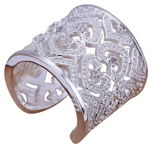 Bella & Chole Jewelry FREE SHIPPING!! Rhinestone & Silver Ring with Sparkly Rhinestones. One Size . Looks beautiful for Special occasions or just to be noticed!