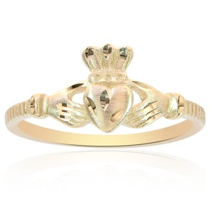 Avital & Co Jewelry 14k Yellow Gold Irish Claddagh Ring