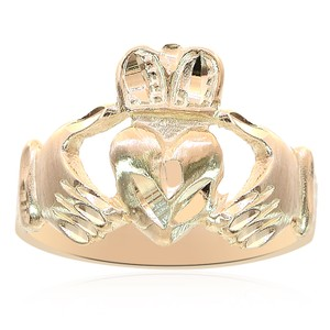 Avital & Co Jewelry 14k Yellow Gold Irish Claddagh Ring 6.25