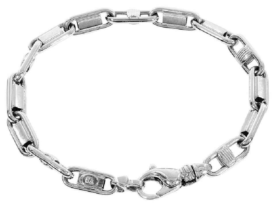 Avital Co Jewelry White 6 9mm 14k Gold Mens Marine Anchor Link Italy Bracelet 71 Off Retail