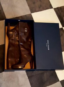 Cole Haan Leather Chestnut (brown) Boots