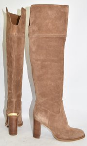 Michael Kors Over The Knee Tall Boot BROWN SUEDE Boots