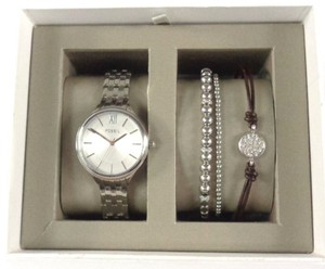 Fossil Fossil BQ3079SET Womens Silver tone Two Bracelet & Watch Set