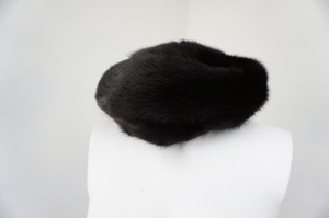 H, Medman H. Medman Black Mink Fur Winter Hat Cap