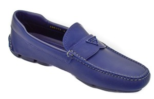 Prada Leather Rubber Vintage navy Flats