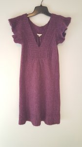 Fossil short dress Plum Sweater on Tradesy