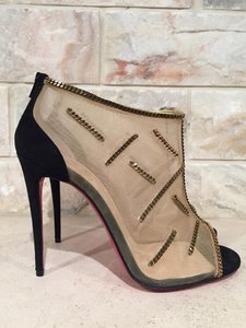 Christian Louboutin Signifiamma Chain Mesh black Pumps