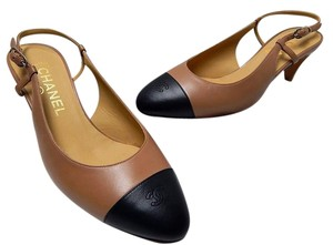 Chanel Leather Classic Brown Pumps