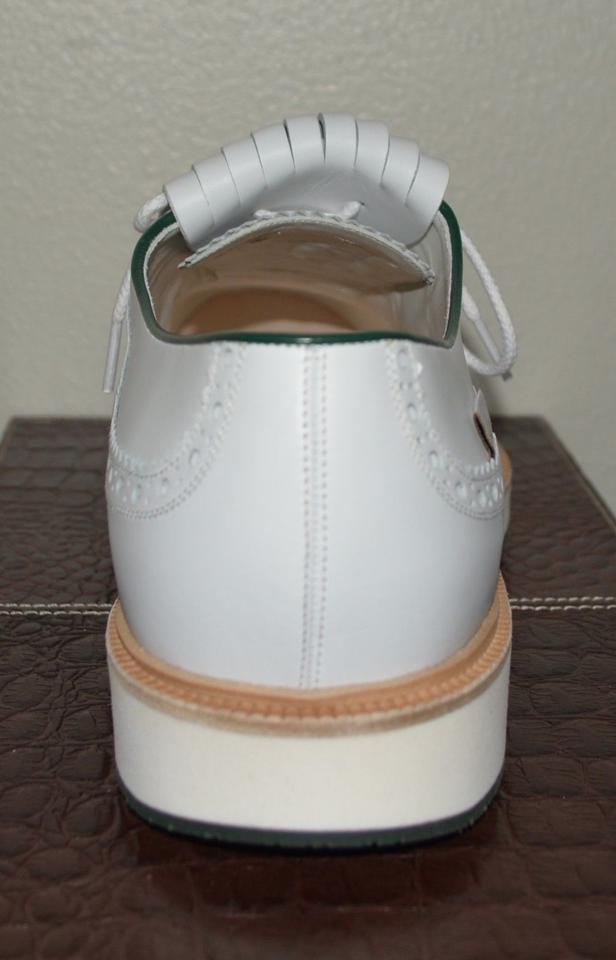 8a836a20009 Gucci White Mens Leather Brogue Oxford Golf Eu 45 Formal Shoes Size US 12  Regular (M