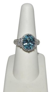 Other 7.17ctw Absolute Simulated Aquamarine Sterling Ring 7