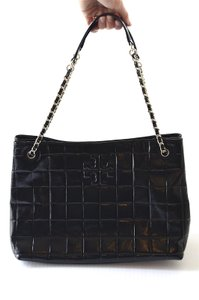 Tory Burch Patent Tote in Black