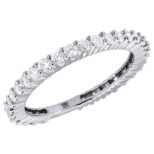 Other 14k White Gold Diamond Eternity Wedding Band Ring 0.75 Ct.
