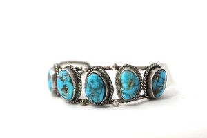 Other Vintage Turquoise and Silver Cuff
