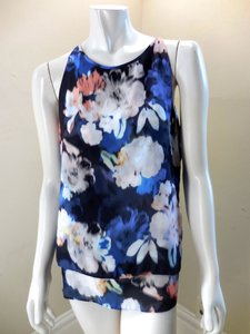 Saint Tropez West Resort Watercolor Tank 7477 Top Blue