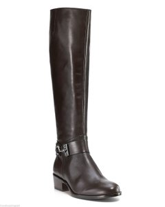 Via Spiga Leather Equestrian Knee High Brown Boots