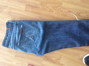 7 For All Mankind A Pocket Flare Leg Jeans-Distressed