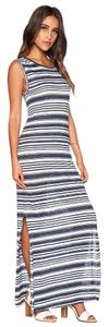 Blue Maxi Dress by Graham & Spencer Striped Maxi Maxi With Slits