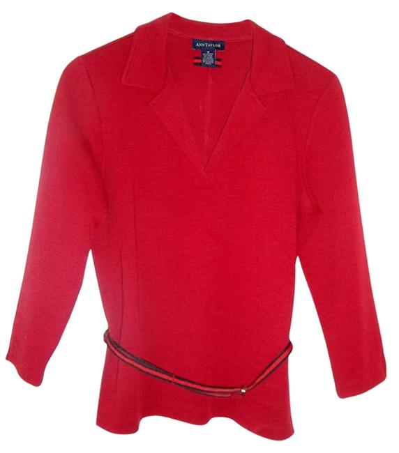 Preload https://item3.tradesy.com/images/ann-taylor-red-sweaterpullover-size-10-m-199742-0-0.jpg?width=400&height=650
