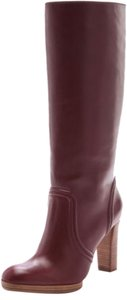 Michael Kors Knee High Leather Burgundy Boots