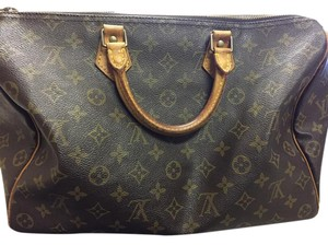 Louis Vuitton Speedy 35 Tote in Brown