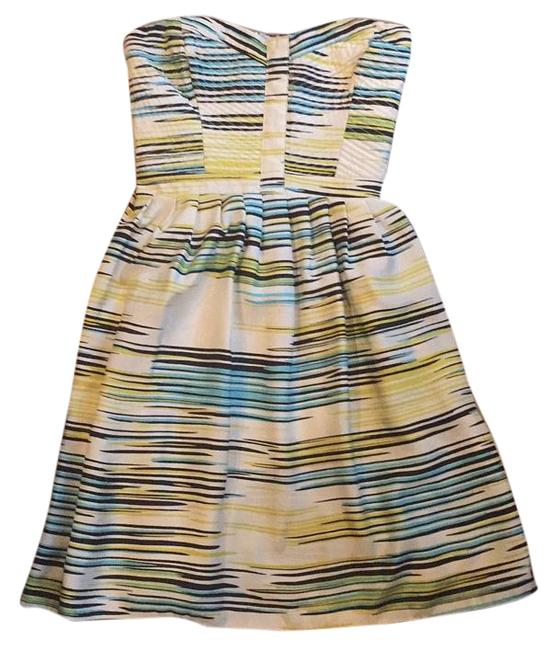 Item - Multicolor Declining Strapless Above Knee Cocktail Dress Size 8 (M)