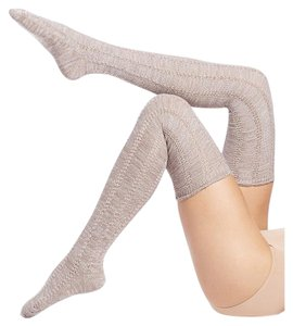 Free People Fray Pointelle Thigh High Socks
