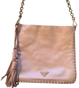 Prada Studded Leather Chain Shoulder Bag