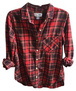 Old Navy Button Down Shirt Plaid