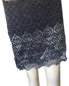Free People Mini Skirt Silver black. gray