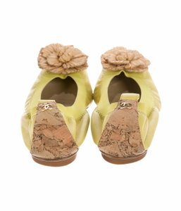 Chanel Luxury Comfortable Sale! Yellow Flats