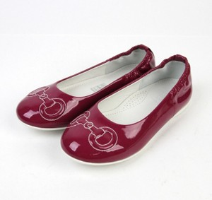 Gucci Magenta Horsebit Kids Stitch Ballet Flat G 33/ Us 2 297467 Shoes