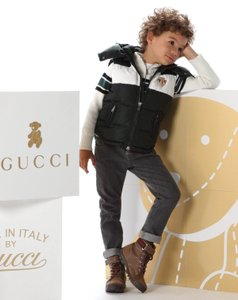 Gucci Gucci Kids Unisex Suede 'trento' Lace-up Boot W/web G 28/ Us 11 271338