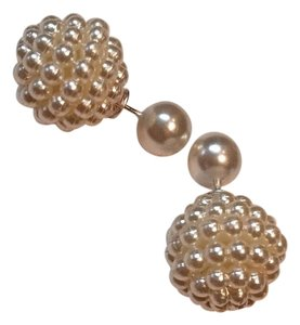 White Pearl Double Sided Stud Earrings J2989