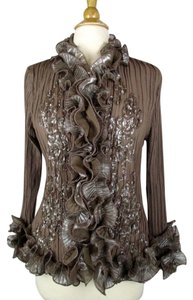 Pretty Angel Couture Style Ruffle Top Brown