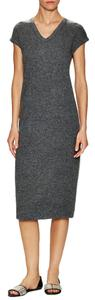 James Perse short dress Gray Wool Rib Cap on Tradesy