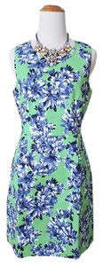 J.Crew Printed Pattern Weave Green Dress