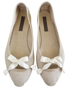 Bottega Veneta Espadrille Canvas Bow Beige Wedges