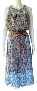Vince Camuto short dress aqua Chiffon Snakeskin Pleated on Tradesy