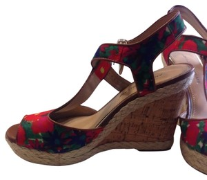 Antonio Melani Flowered Wedges