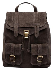 Proenza Schouler Proenza Ps1 Suede Ps1 Suede Dark Brown Backpack