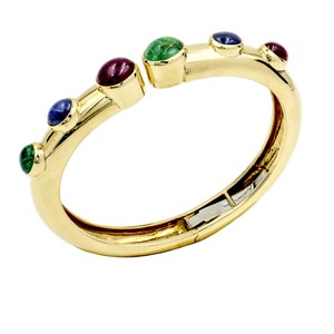 David Webb Vintage David Webb Ruby, Emerald & Sapphire Gold Bracelet